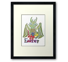 """Earth Dragon"" Framed Print"