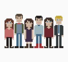 How I Met Your Mother Gang + Mother Pixel by Evelyn Gonzalez