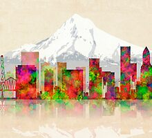 PORTLAND OREGON SKYLINE by Daniel-Hagerman