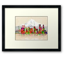 PORTLAND OREGON SKYLINE Framed Print