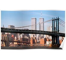 TWIN TOWERS and BRIDGES of NEW YORK Poster