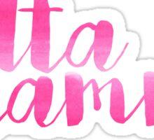 Delta Gamma Pink Watercolor Sticker
