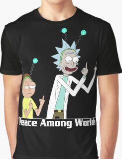 RICK AND MORTY SHIRT - PEACE AMONG WORLDS Graphic T-Shirt