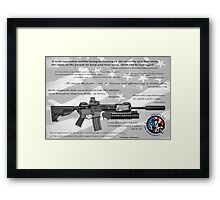 CONSTITUTIONAL RIGHT to BEAR ARMS Framed Print