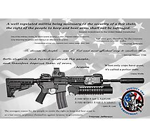 CONSTITUTIONAL RIGHT to BEAR ARMS Photographic Print