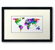 VIBRANT MAP of the WORLD Framed Print