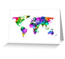 VIBRANT MAP of the WORLD Greeting Card