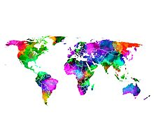 VIBRANT MAP of the WORLD Photographic Print