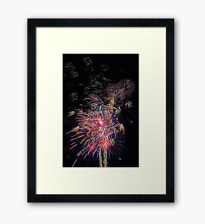 Burswood Chinese New Year Fireworks  Framed Print