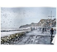 Stormy West Bay Poster