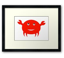 Happy Crab Framed Print