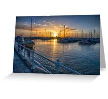 St Aubin's Harbour Greeting Card