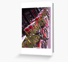 Bicycles on South Bank Greeting Card