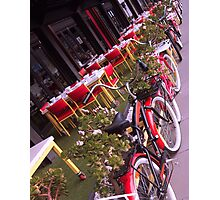Bicycles on South Bank Photographic Print