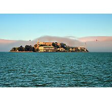 Alcatraz and Golden Gate Photographic Print