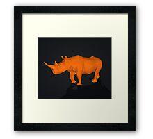 Rhino Low Poly Framed Print