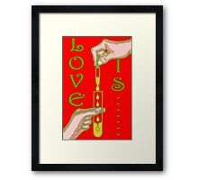 LOVE IS....(18) Framed Print