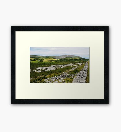 The Burren Countryside County Clare Ireland Framed Print