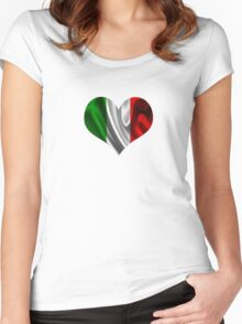 italy heart Women's Fitted Scoop T-Shirt