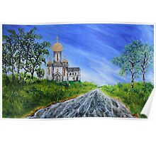 Russian church (oil painting for posters and prints) Poster