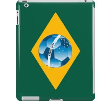 Brazil flag with ball iPad Case/Skin