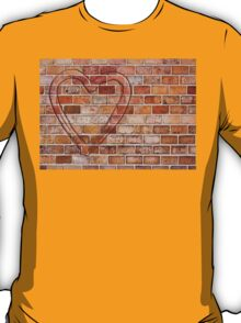 heart on the brick wall T-Shirt