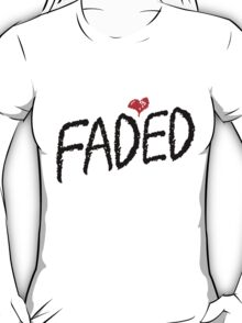 Faded <3 - Black T-Shirt