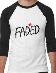 Faded <3 - Black Men's Baseball ¾ T-Shirt