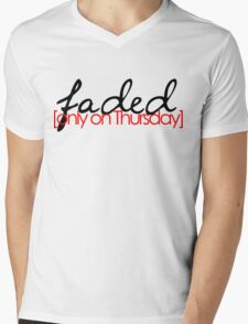 Faded on Thursday Mens V-Neck T-Shirt