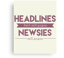 Headlines Canvas Print
