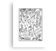 Warped Doodles Canvas Print