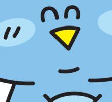 Baby boy owl. Sticker