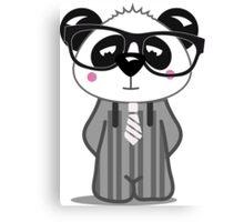 Panda Nerd Canvas Print