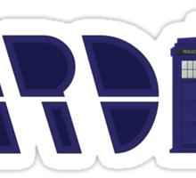 Timey Wimey Tardis Sticker
