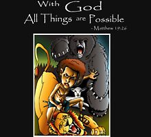 David & Lion (With God all things are Possible) Unisex T-Shirt