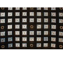 Ceiling of windows in Central Station - Brussels Photographic Print