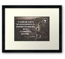 It's Powerfully Reassuring Horizontal Framed Print