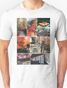 Kyoto Japan Takao Jingo-ji & Kozan-ji Autumn Collage Unisex T-Shirt