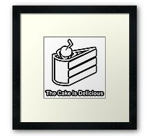 The Cake is Delicious - Portal Framed Print