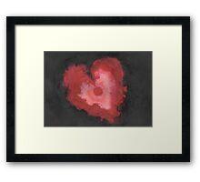 Ink Heart Framed Print