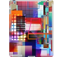 Grid 4-Section/Pink iPad Case/Skin