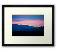 Tuscany silent evening Framed Print