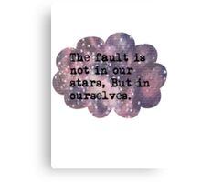The Fault Cloud Canvas Print