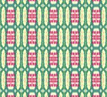 pink and green ovals by purplest-prints
