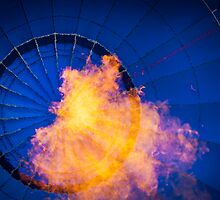 Hot air balloon and fire by mrLEV