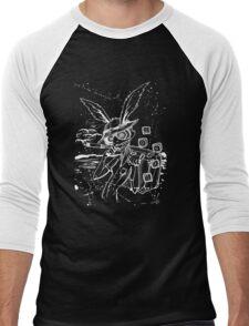 Down The Rabbit Hole (white) Men's Baseball ¾ T-Shirt