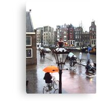 AMSTERDAM STREET BY ANNE FRANK'S HOUSE Canvas Print