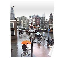 AMSTERDAM STREET BY ANNE FRANK'S HOUSE Poster