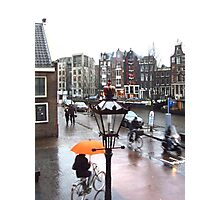 AMSTERDAM STREET BY ANNE FRANK'S HOUSE Photographic Print