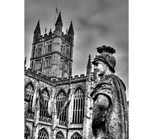 Bath Abbey & Statue Photographic Print